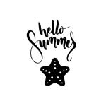 Free Printable Hello Summer Wall Art