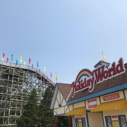 Holiday World main entrance in Santa Claus, Indiana.
