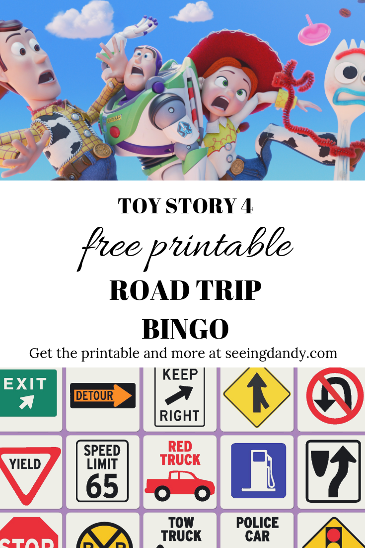 image regarding Travel Bingo Printable titled Toy Tale 4 Printable Highway Family vacation Bingo For Loved ones Trip