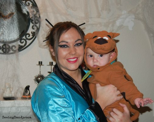 Audiology student and Scooby Doo Halloween costume.