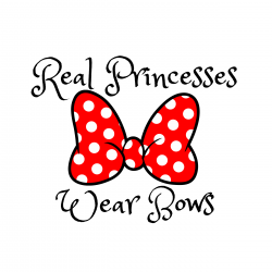 Minnie Mouse red and white bow.