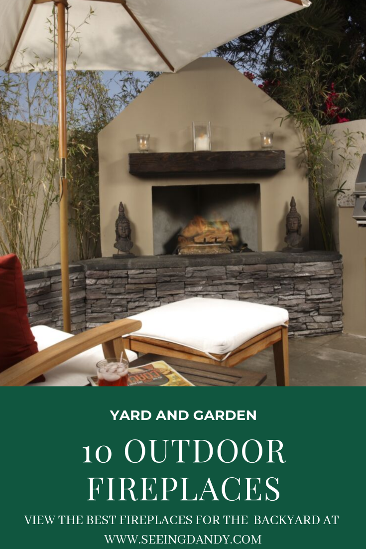 Best outdoor fireplaces perfect for the backyard.