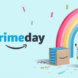 Prime Day 2019 rainbow and puppy.