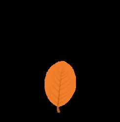 Crunching leaves essential oil printable label.