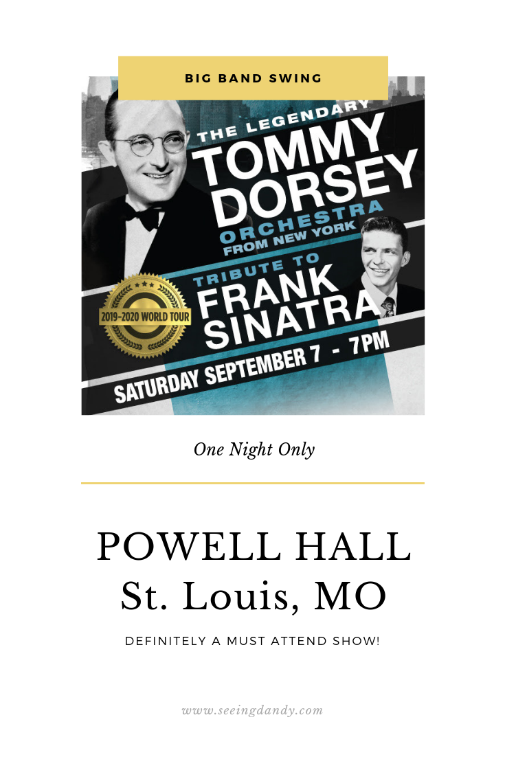 The legendary Tommy Dorsey Orchestra concert at Powell Hall in St. Louis.