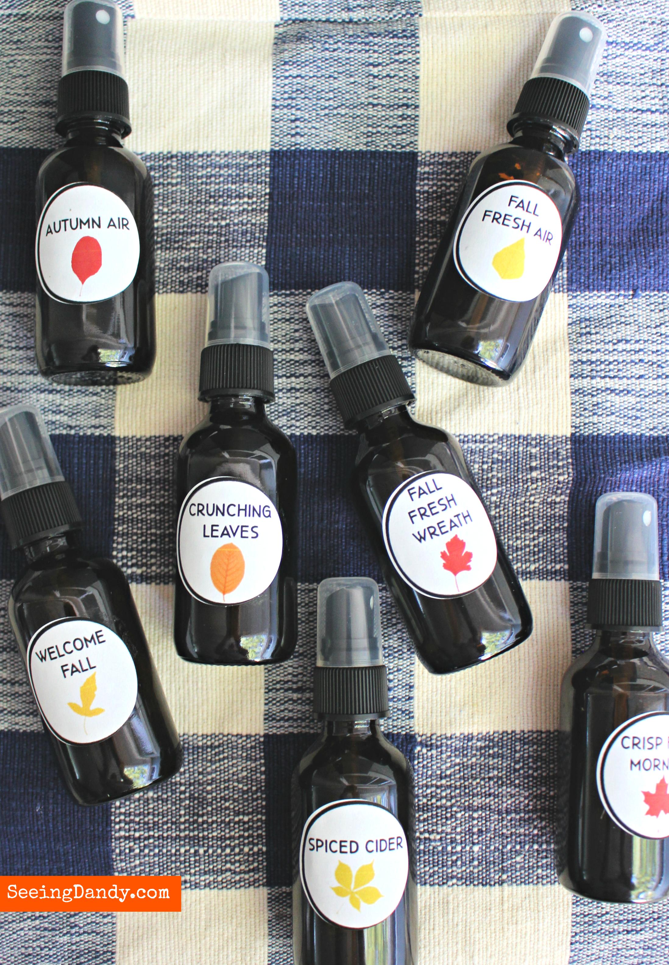 Easy DIY essential oil room sprays.