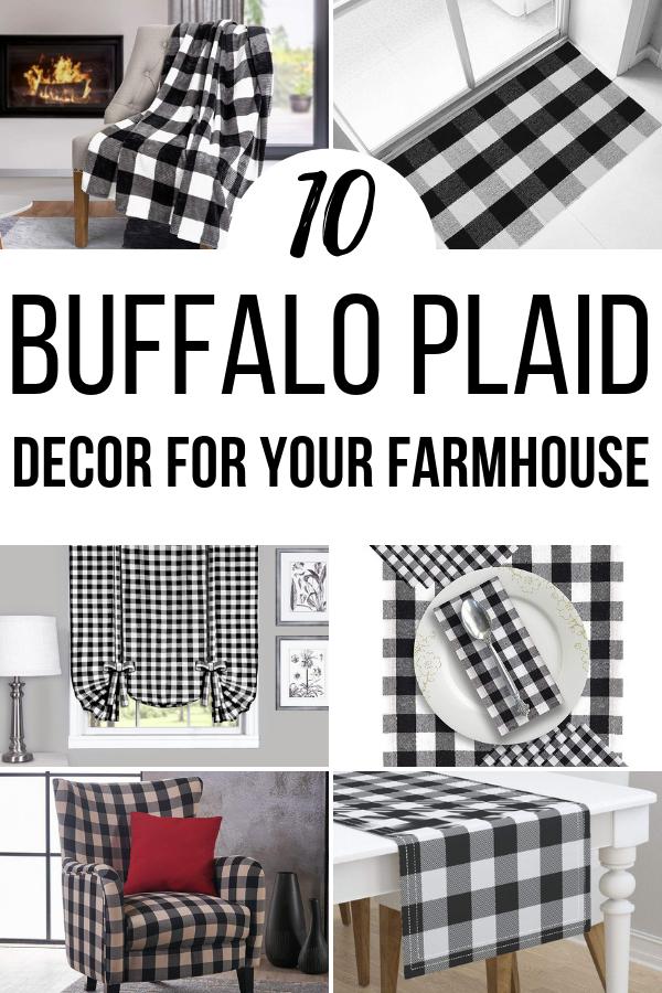 Buffalo plaid decor ideas for fall decorating in farmhouse style.