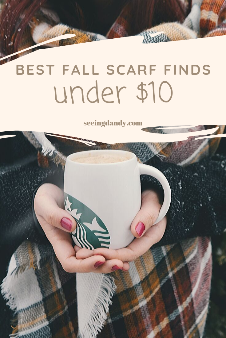 Best fall scarf finds for under $10.