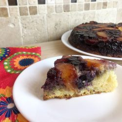 Peach Blueberry Upside Down Cake Recipe