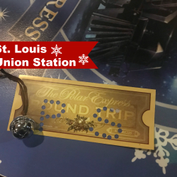 St. Louis Union Station Polar Express golden ticket.