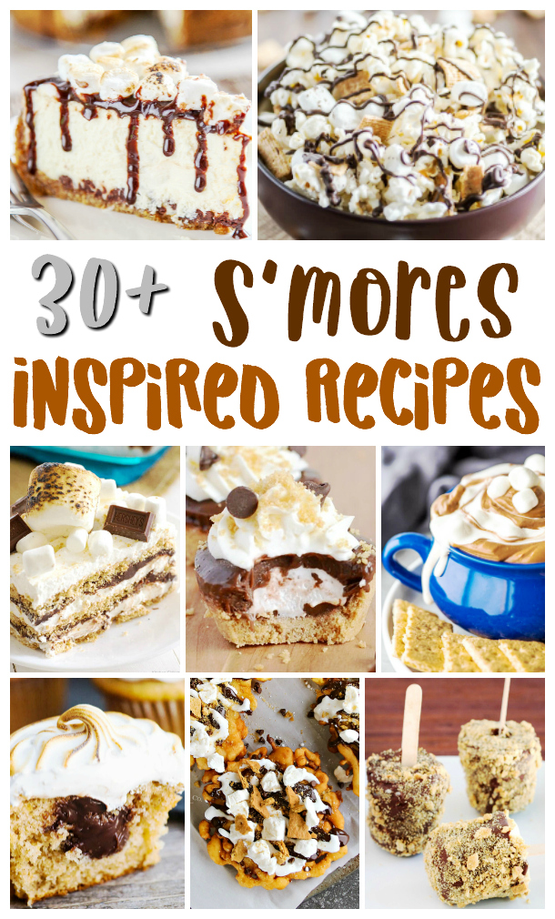Delicious and easy to make smores inspired recipes.