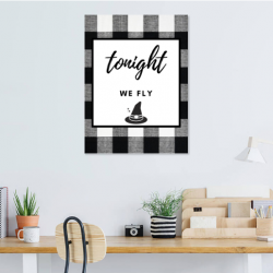 Tonight we fly printable featured in a home office space.