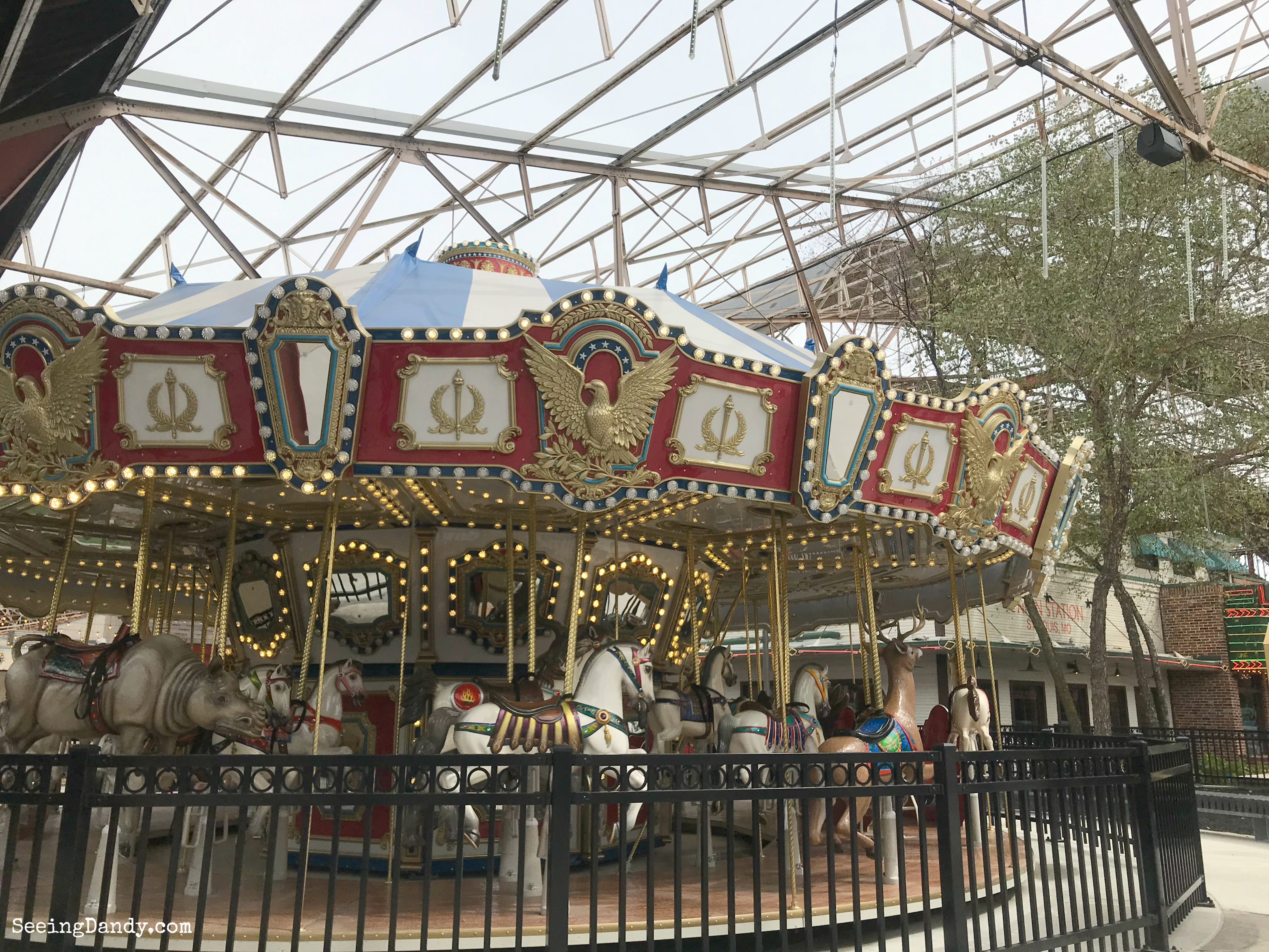 Union Station carousel horses.