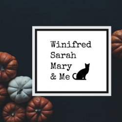 Winifred, Sarah and Mary Sanderson sisters printable.