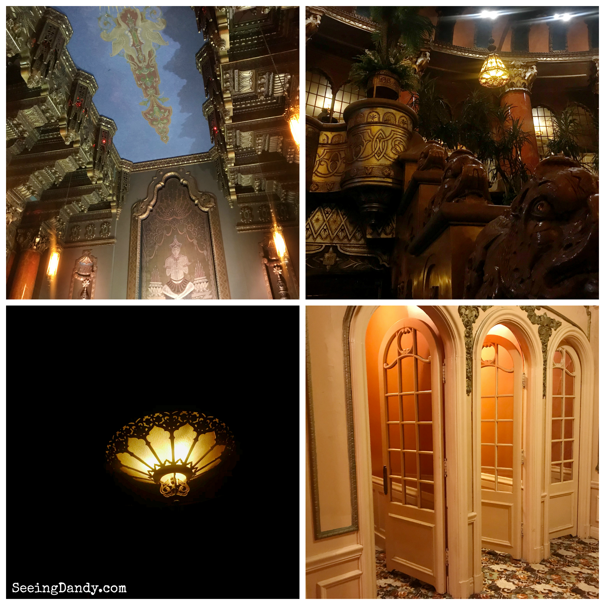 Vintage architecture and furnishings at the St. Louis Fox Theatre.