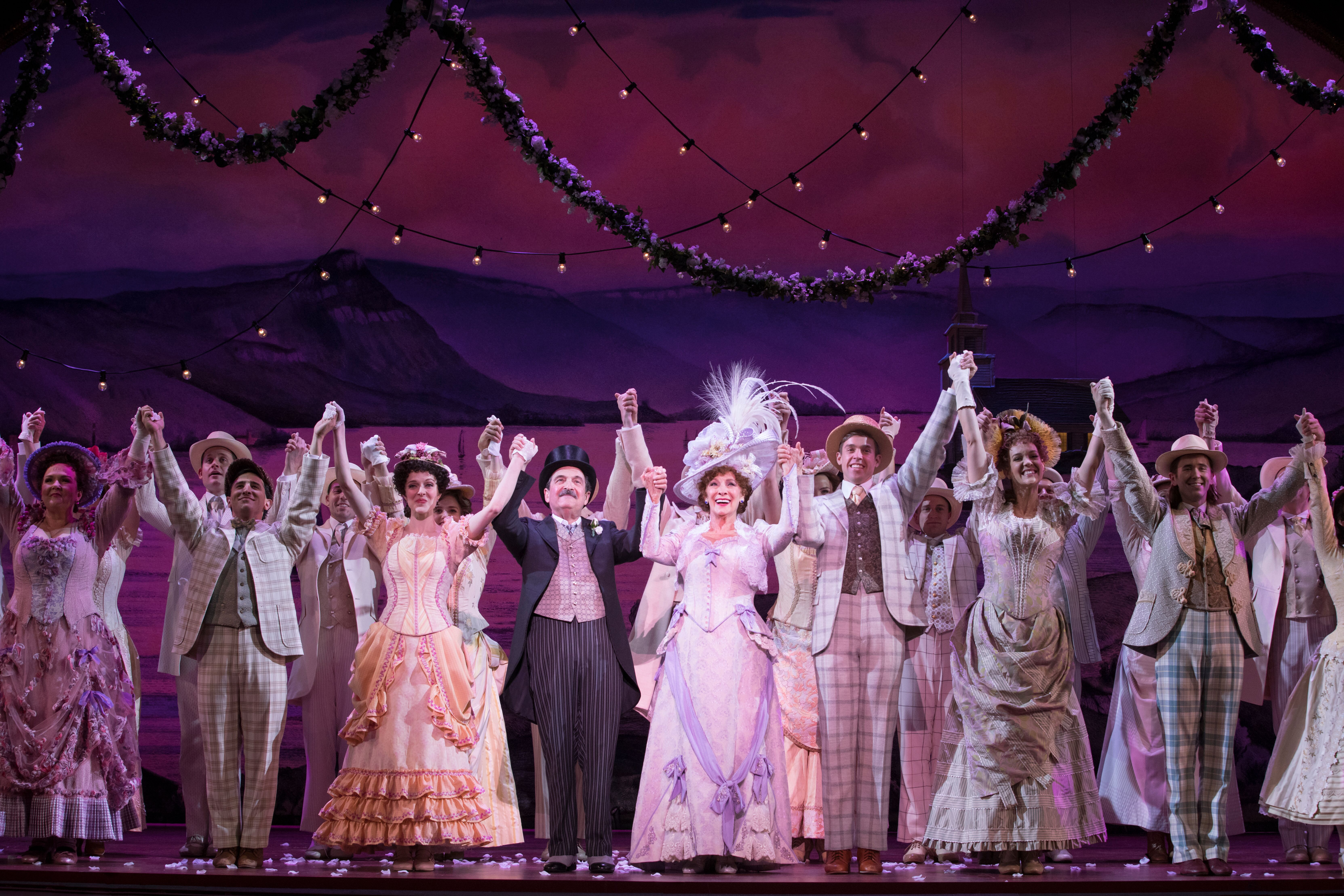 Betty Buckley and the National Tour Company of Hello Dolly.