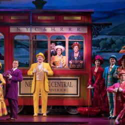 Carolee Carmello and 2019 tour cast of Broadway musical Hello Dolly.