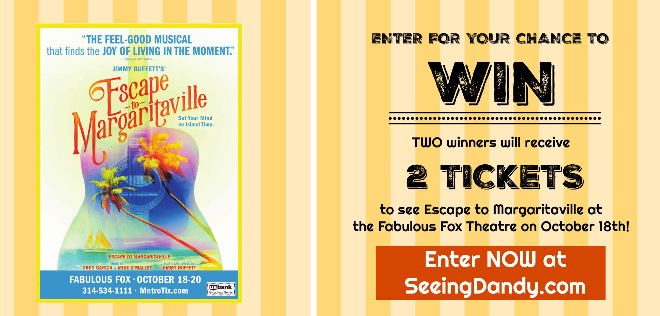 Ticket giveaway to the Fox Theatre opening night of Escape to Margaritaville.