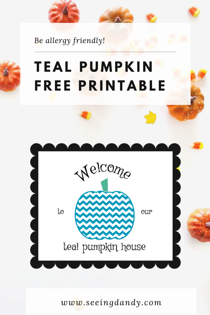 Allergy friendly teal pumpkin free printable.