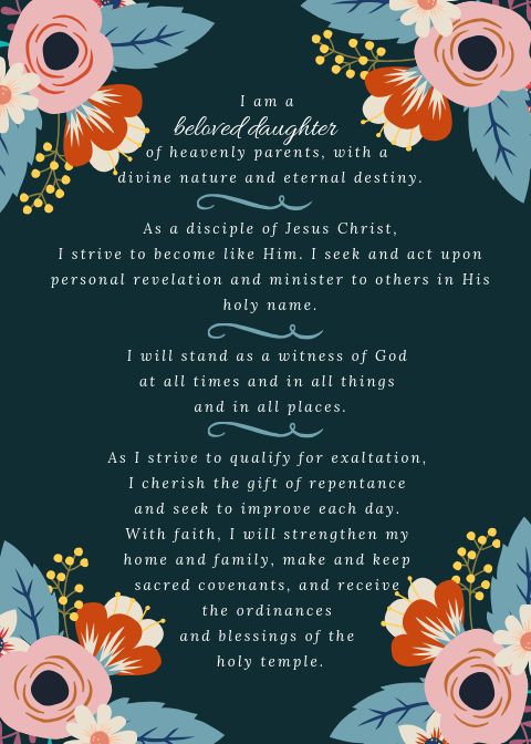 Church of Jesus Christ of Latter-Day Saints new Young Women Theme.