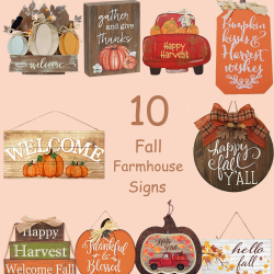 Fall farmhouse style signs.