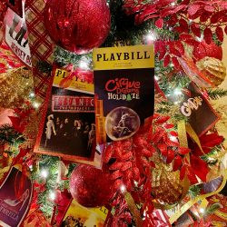 Playbill tree at Fabulous Fox Theatre in St. Louis with Cirque Dreams Holidaze.