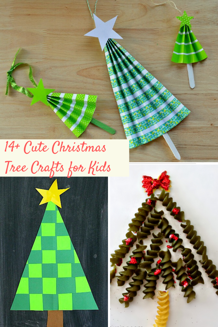 Cute Christmas tree crafts perfect for school holiday party