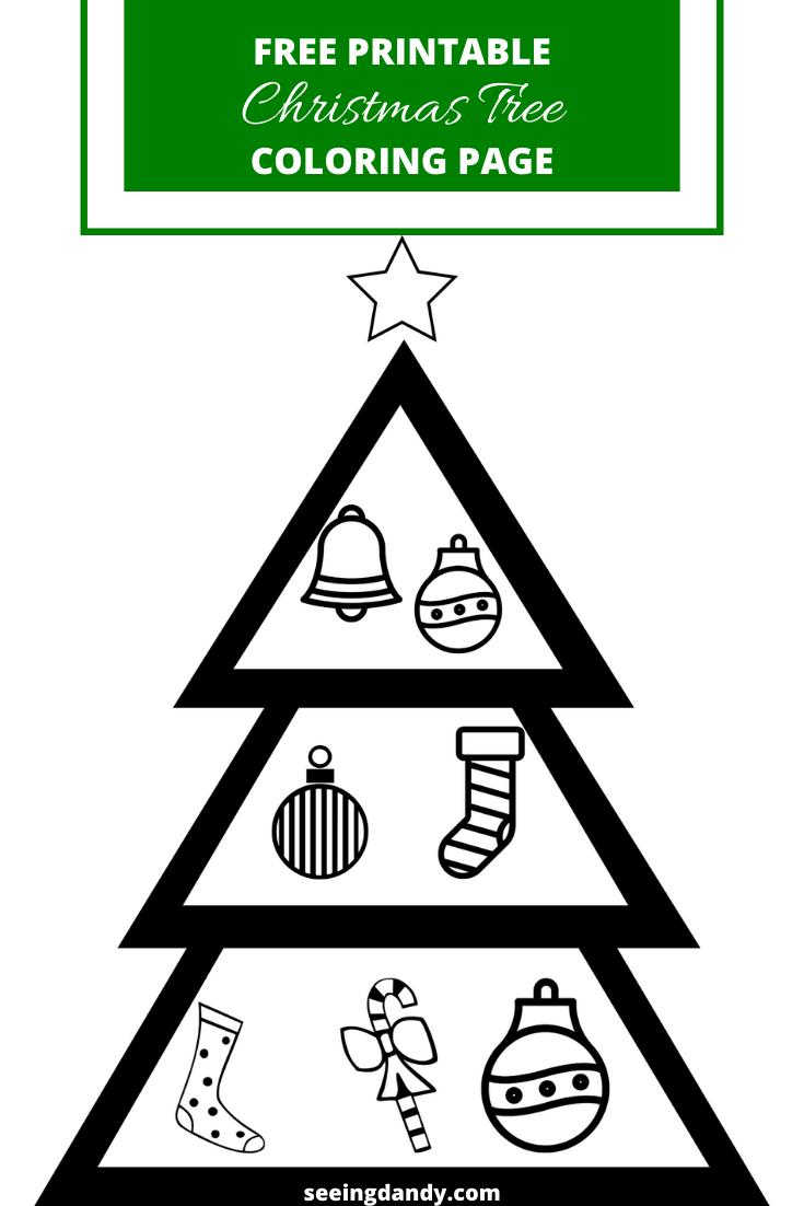 Free Printable Christmas Tree Coloring Pages - The Artisan Life | 1102x735