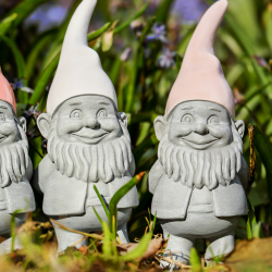 Adorable garden gnomes for the backyard