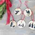 DIY Silhouette Nativity Christmas Tree Ornaments