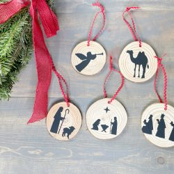 DIY Silhouette Nativity Christmas Tree Ornaments