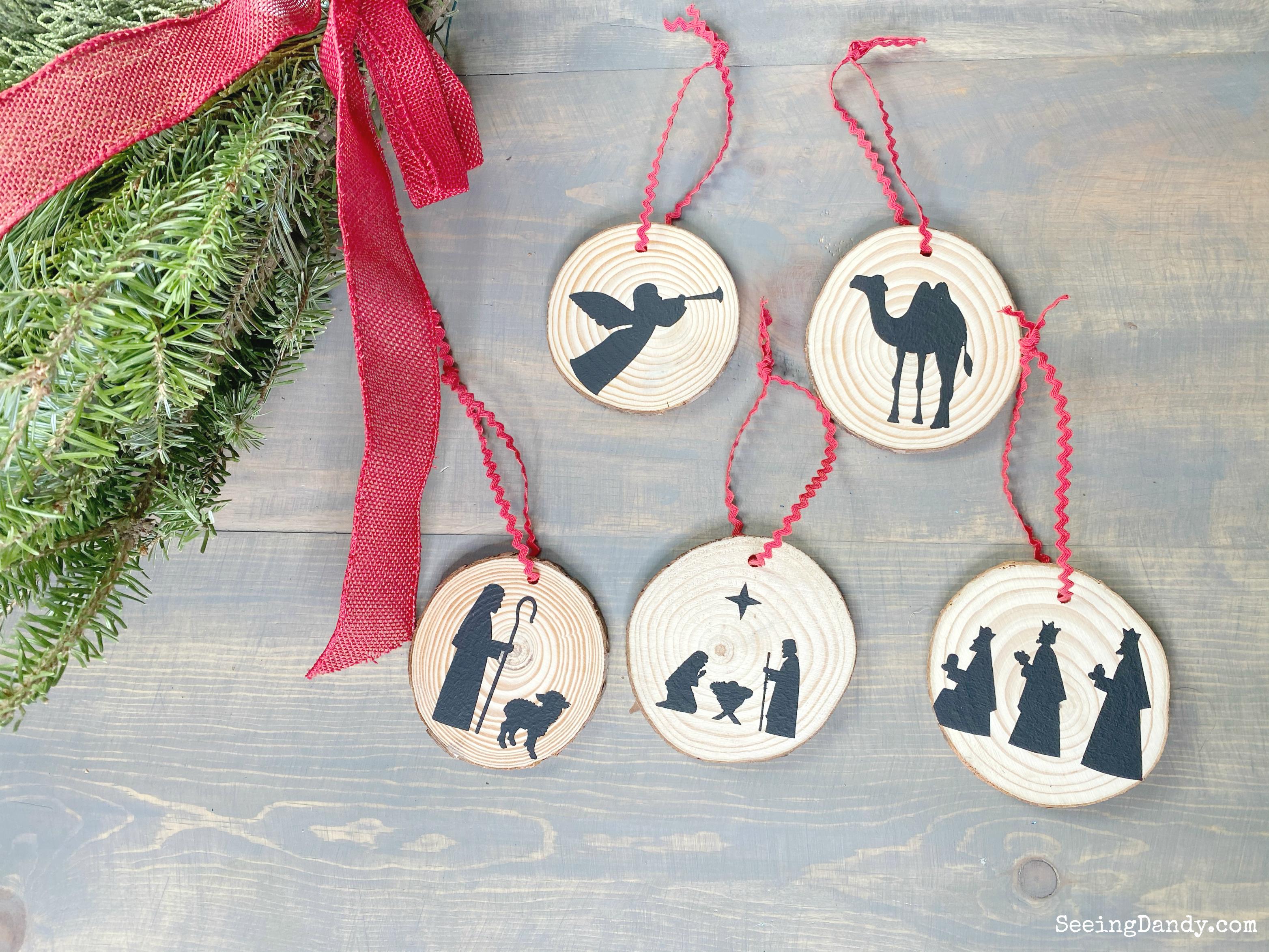 Easy to make nativity Christmas ornaments