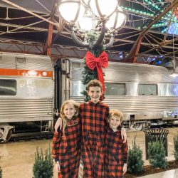 Polar Express train ride at Union Station in St. Louis, MO.