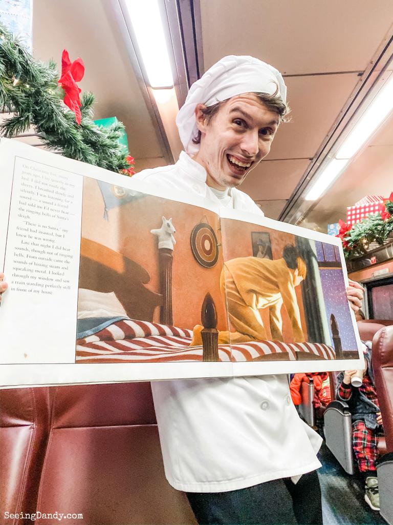 Polar Express train actor and Polar Express book reading