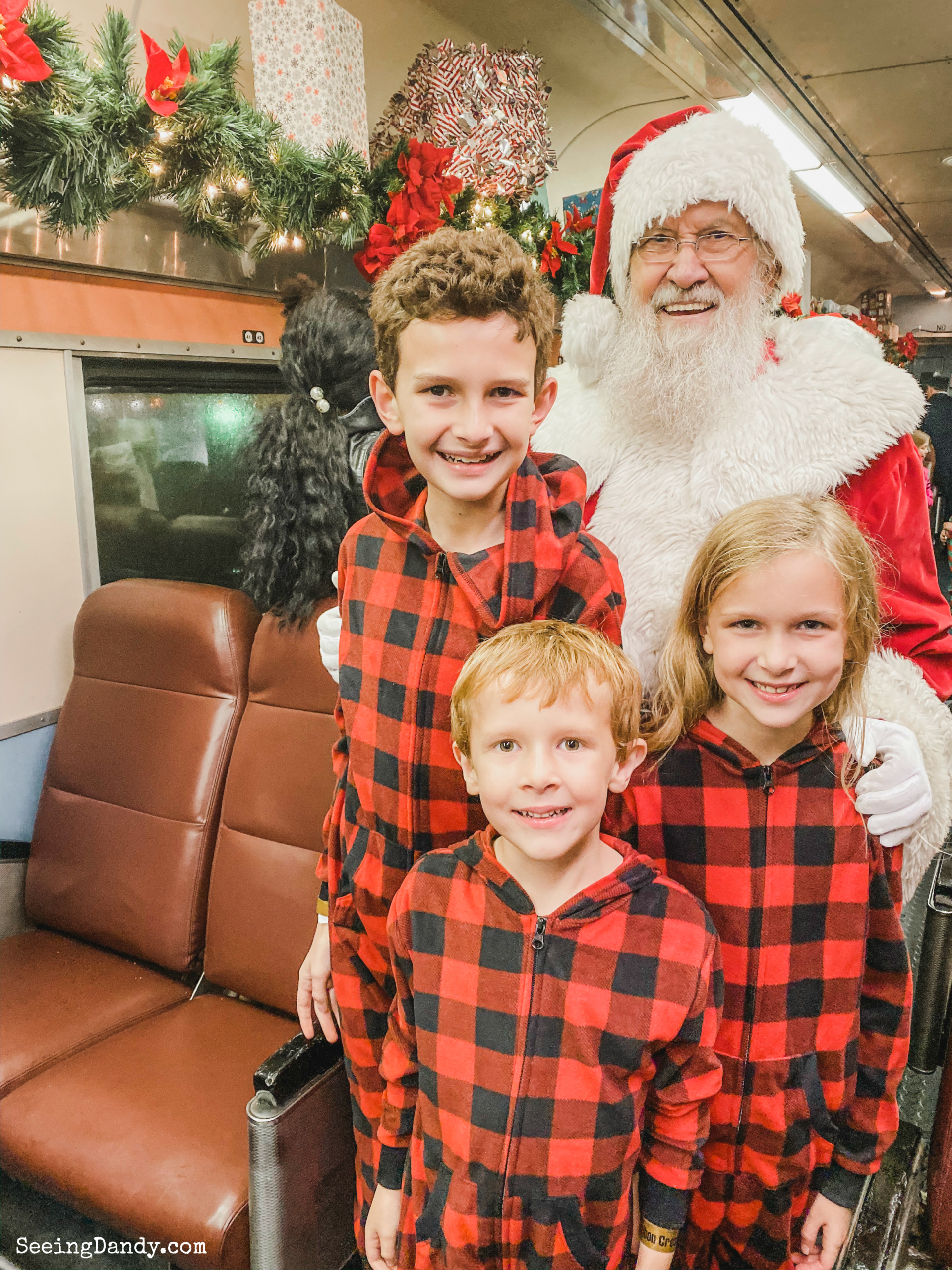 North Pole Santa on Union Station Polar Express