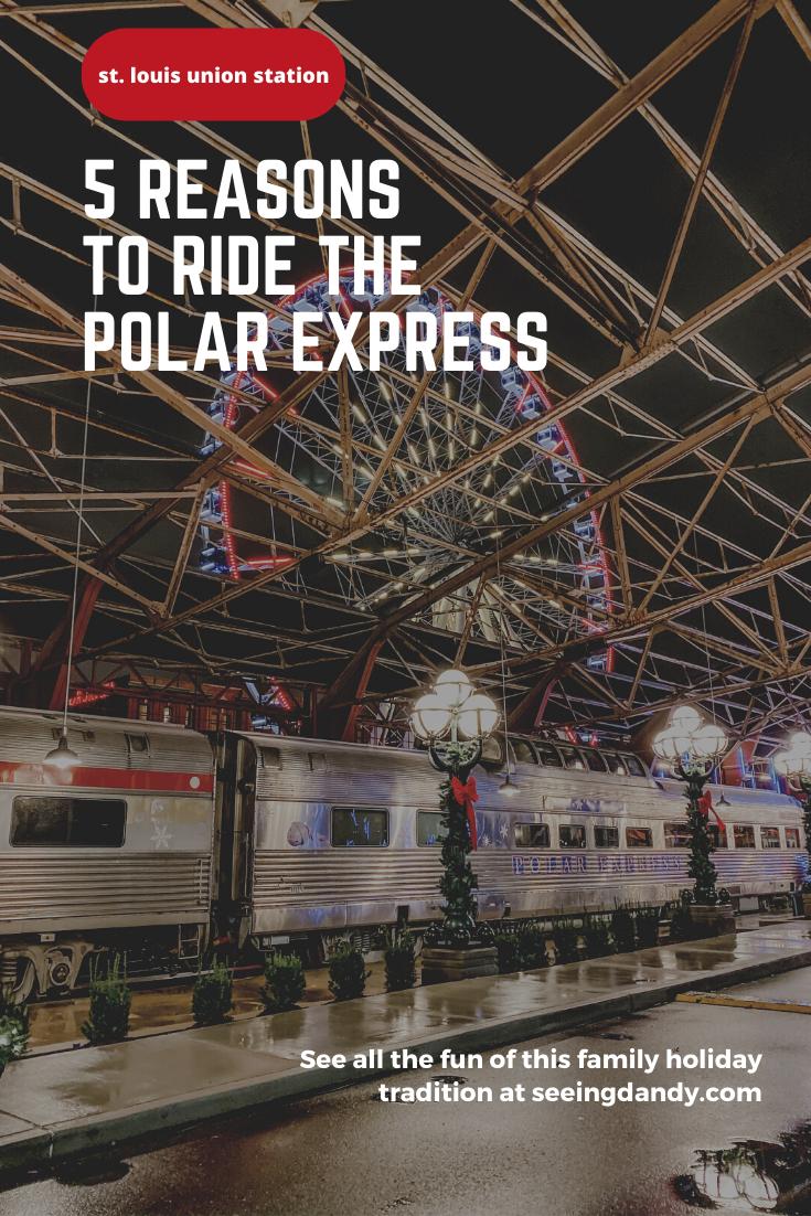 The St. Louis Wheel Union Station Polar Express Train