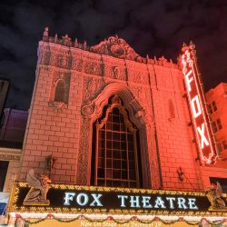 Fabulous Fox Theatre St. Louis at night