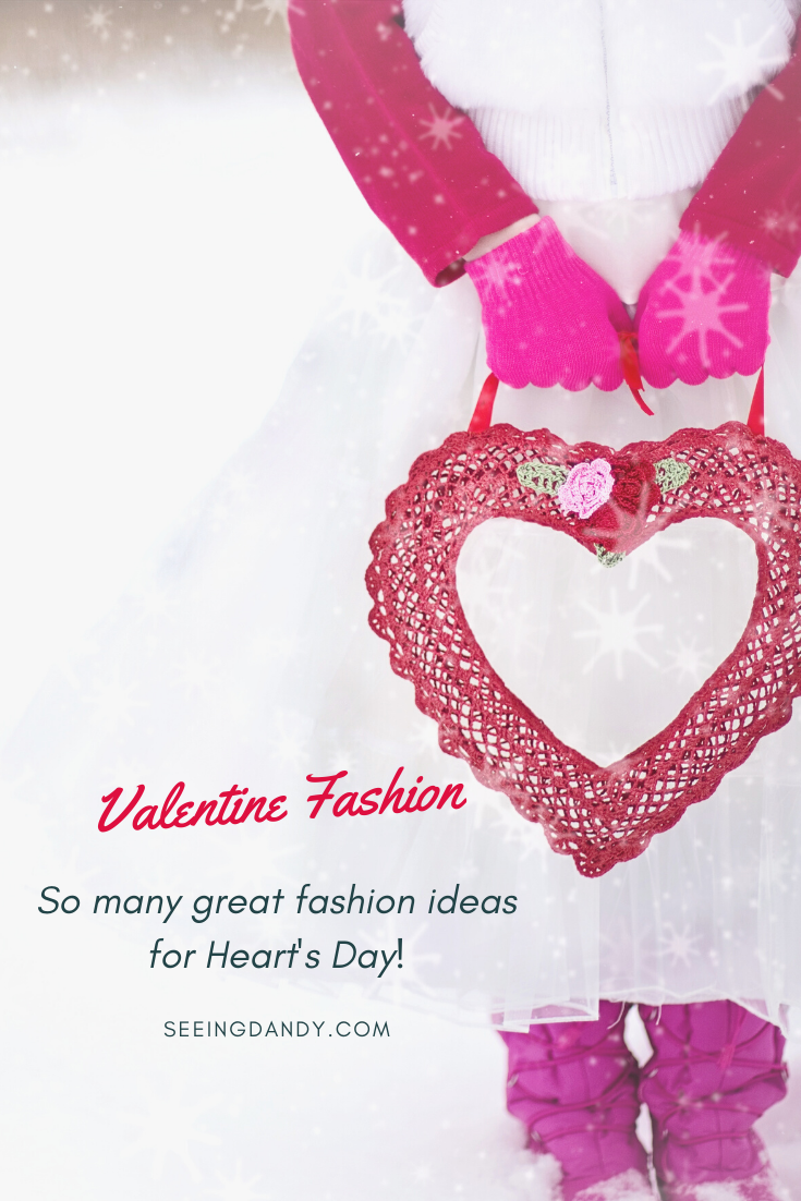 Best Valentine fashion ideas with red heart and white skirt.