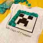 DIY Minecraft Creeper Shirt for 100 Days of School