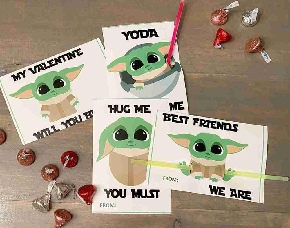 DIY Baby Yoda Valentines for kids, valentine, valentines day, valentine card, baby yoda, star wars the child, the mandalorian, grogu