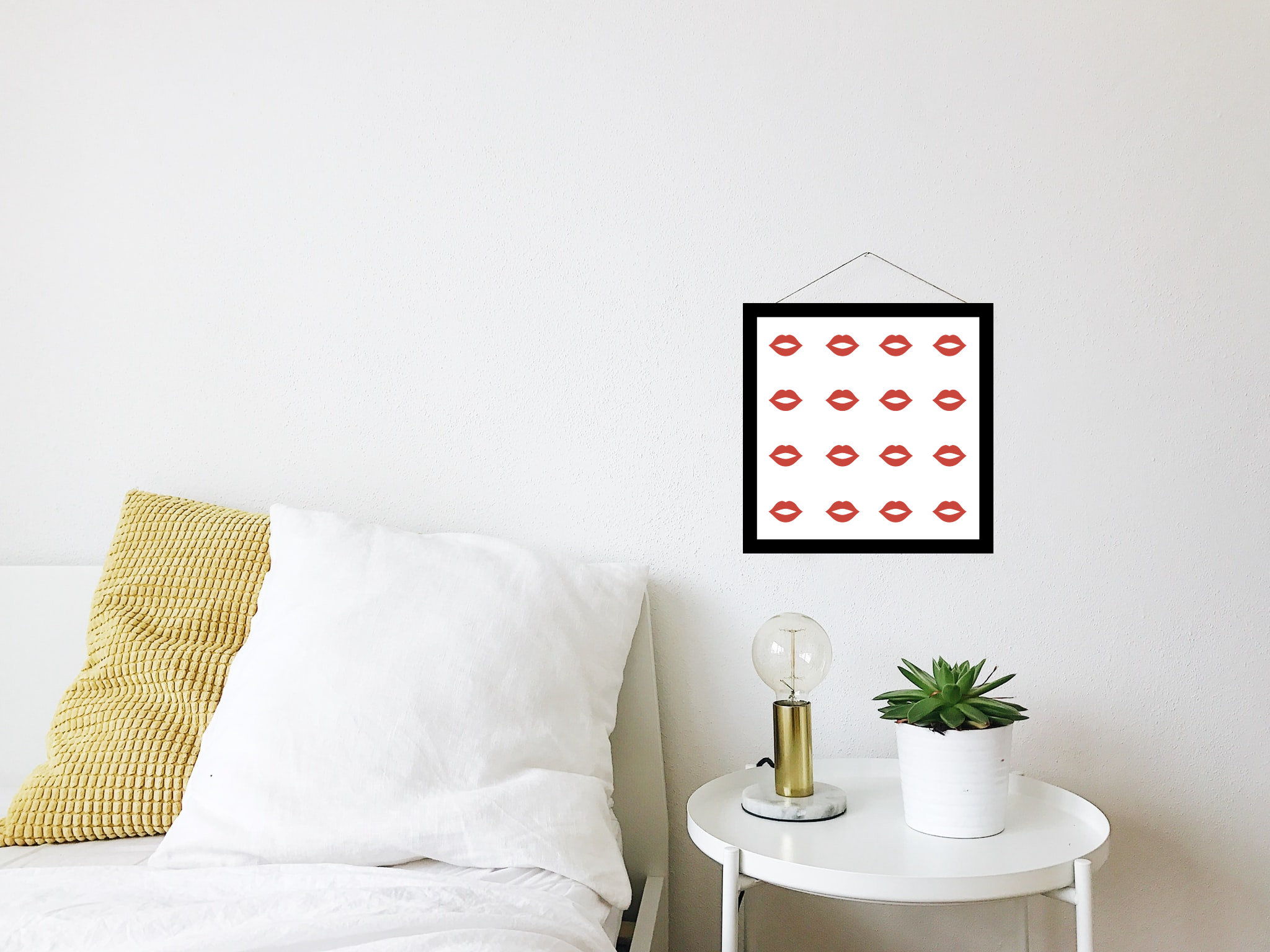 Easy to make red lips printable for Valentine's Day
