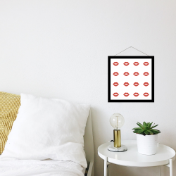 Red lips printable Valentine's Day decor
