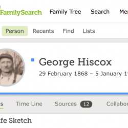 George Hiscox Leap Day birthday