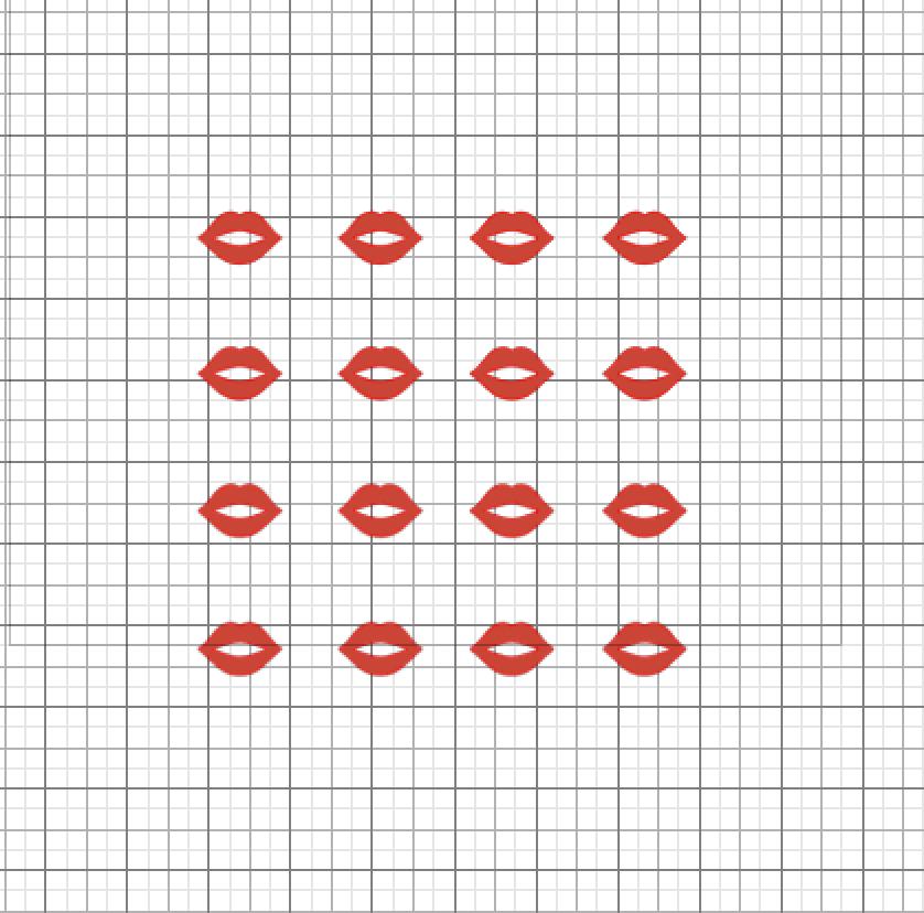 Red lips Valentine free SVG file