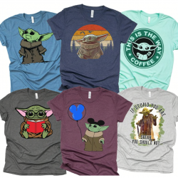 Baby Yoda Shirts for Disney vacation