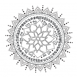 mandala coloring sheet for stress relief
