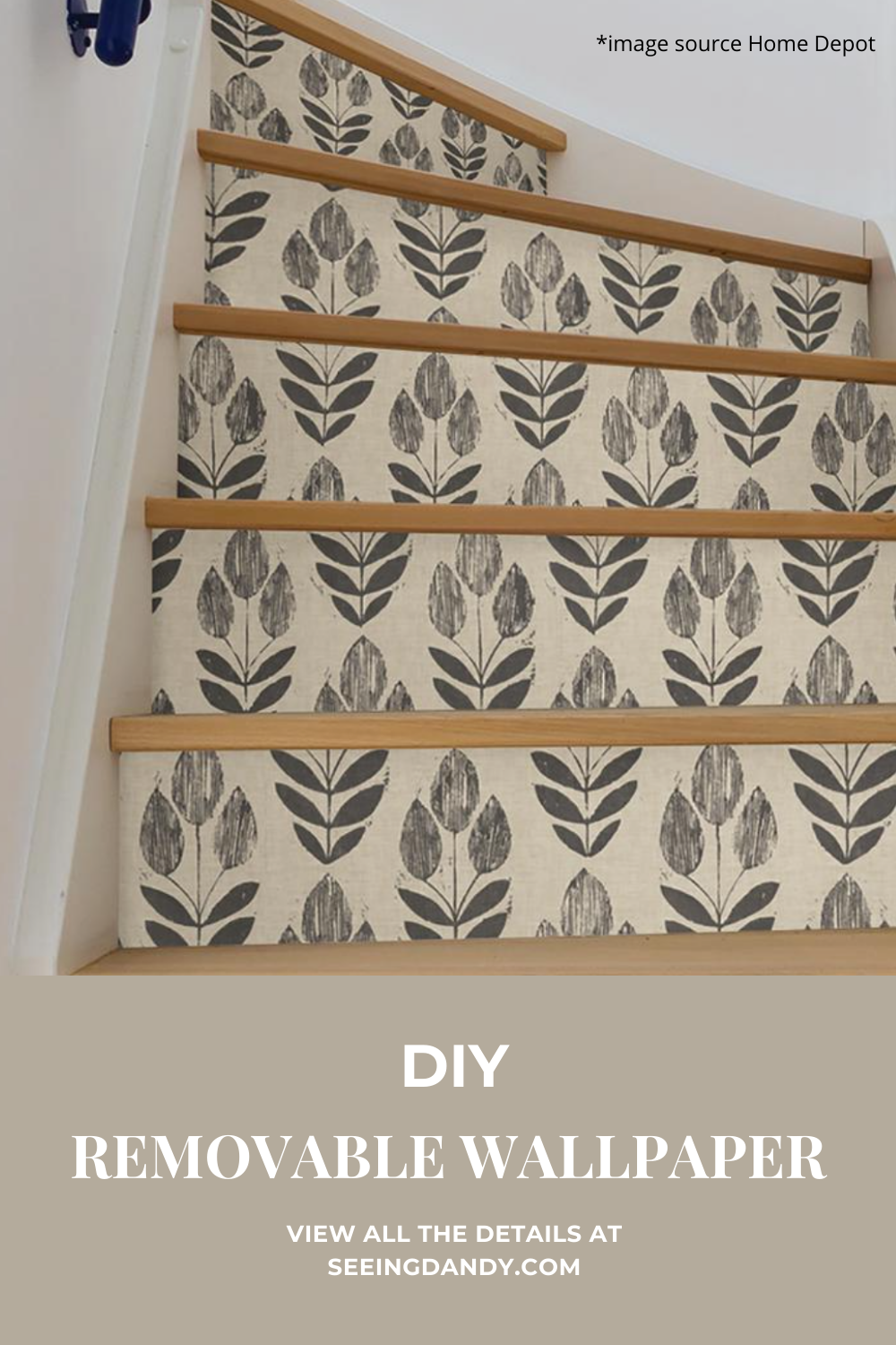 Easy DIY removable wallpaper in Swedish floral