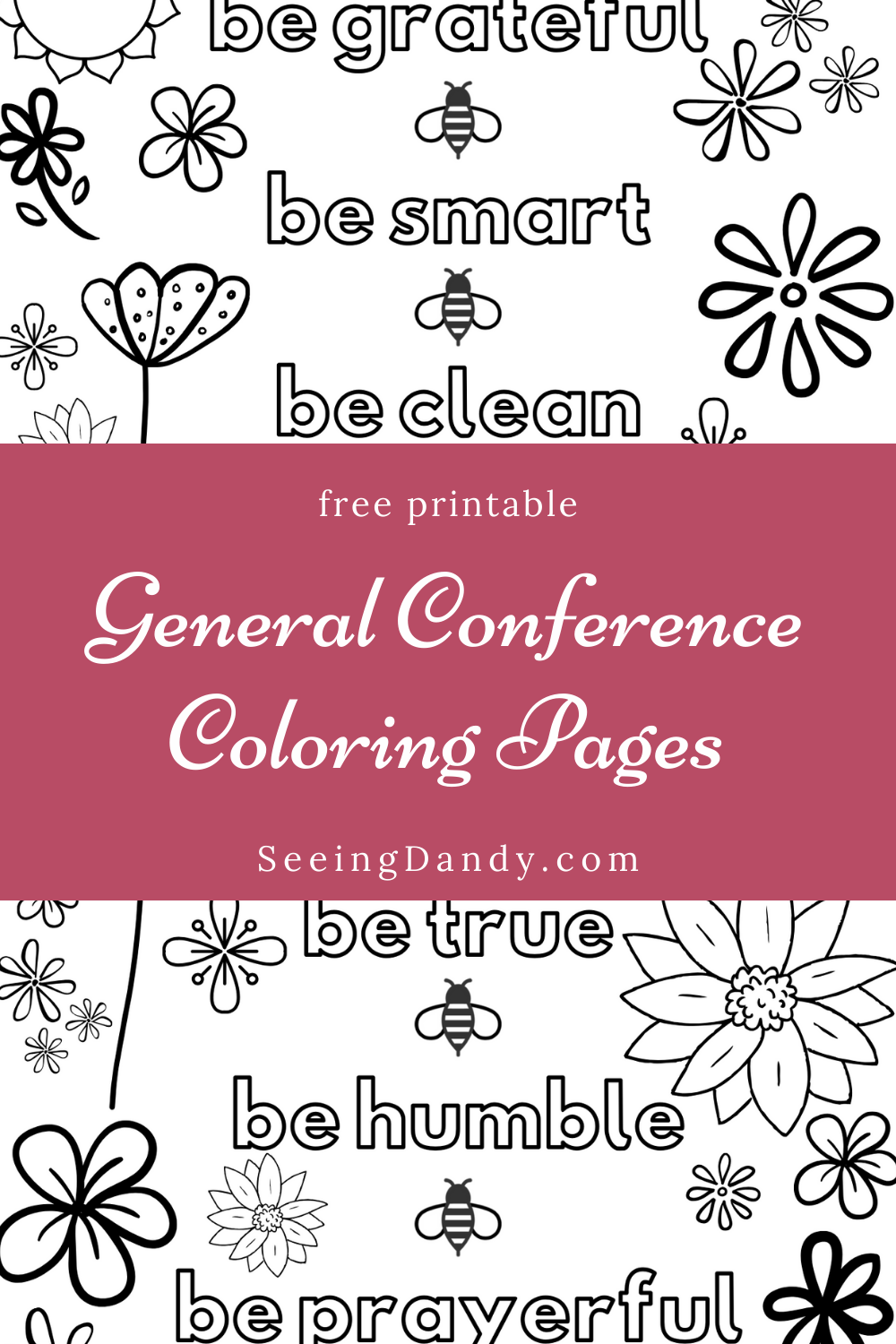 Free printable General Conference coloring pages LDS young women