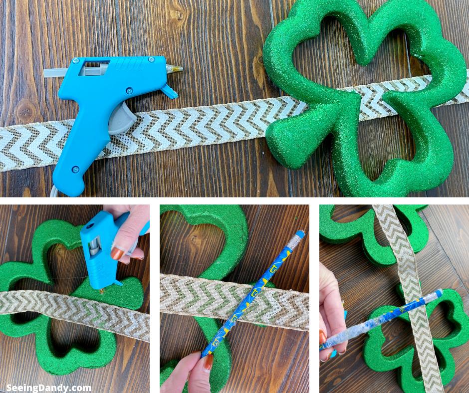How to make a DIY leprechaun wall decor