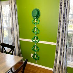 St. Patrick's Day DIY shamrock decoration